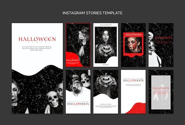 Plantilla de historias de instagram para halloween PSD gratuito