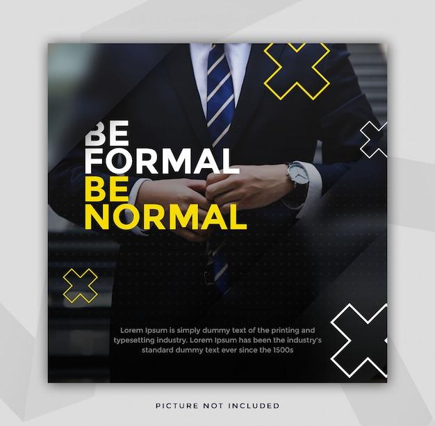 Plantilla de instagrama moderno limpio y blanco oscuro PSD Premium