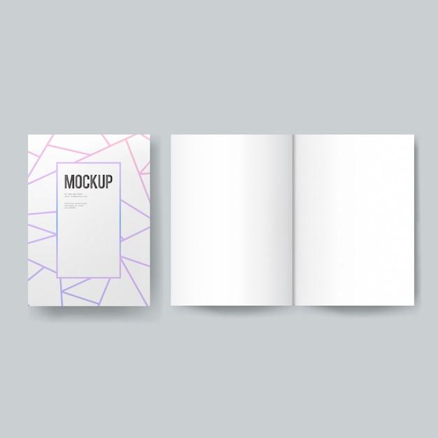Plantilla de libro o revista en blanco PSD gratuito