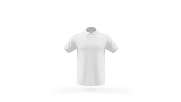 Plantilla de maqueta de camisa polo blanca aislada, vista frontal PSD gratuito