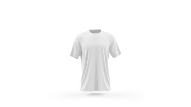 Plantilla de maqueta de camiseta blanca aislada, vista frontal PSD gratuito