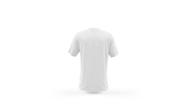 Plantilla de maqueta de camiseta blanca aislada, vista posterior PSD gratuito