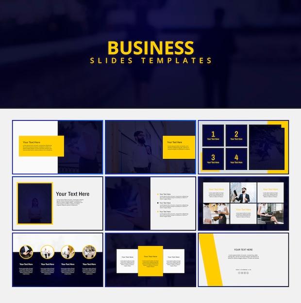 Plantilla moderna de presentación de negocios PSD Premium
