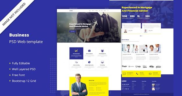 Plantilla de negocios corporativos PSD Premium