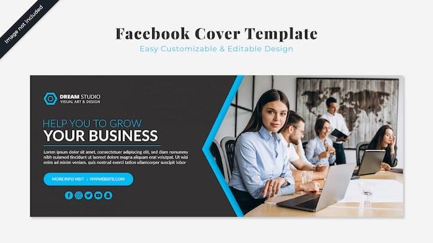 Plantilla de negocios de portada de facebook PSD gratuito