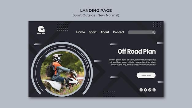 Plantilla de página de aterrizaje de concepto deportivo PSD gratuito