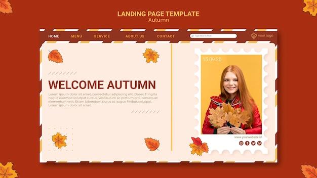 Plantilla de página de destino de anuncio de otoño PSD gratuito