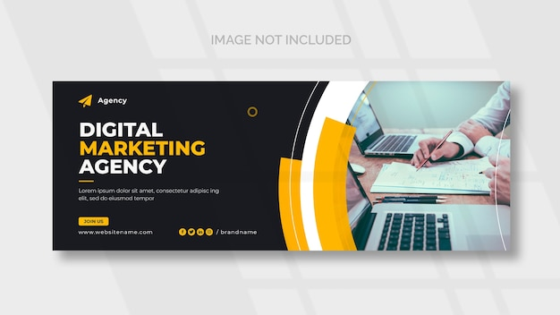 Plantilla de portada de facebook de marketing digital PSD gratuito