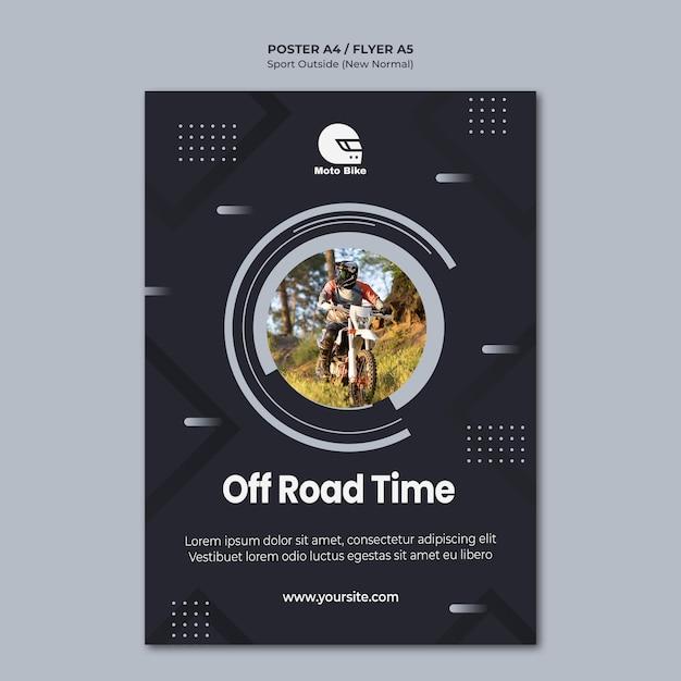 Plantilla de póster de concepto deportivo PSD gratuito