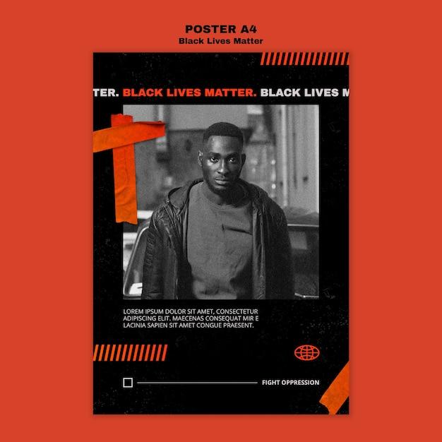 Plantilla de póster negro vive importa PSD gratuito