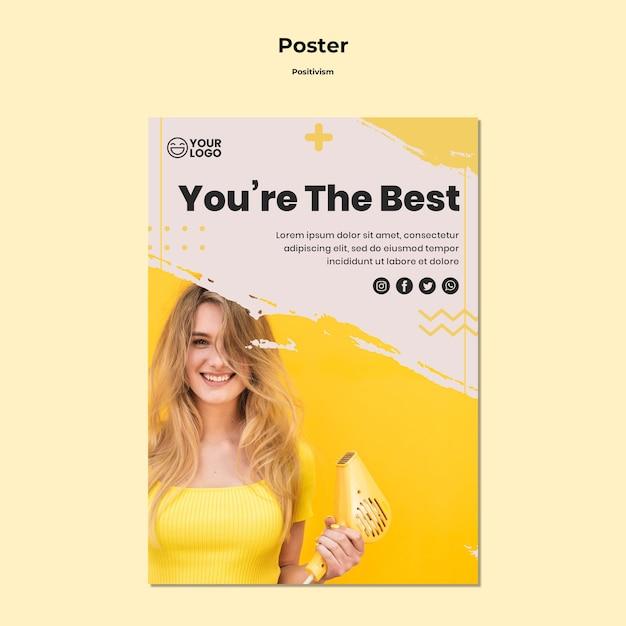 Plantilla de póster de positivismo PSD gratuito