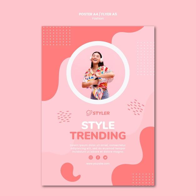 Plantilla de póster publicitario de moda PSD gratuito