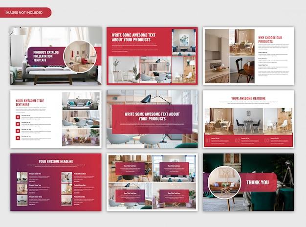 Plantilla de presentación del catálogo de productos PSD Premium