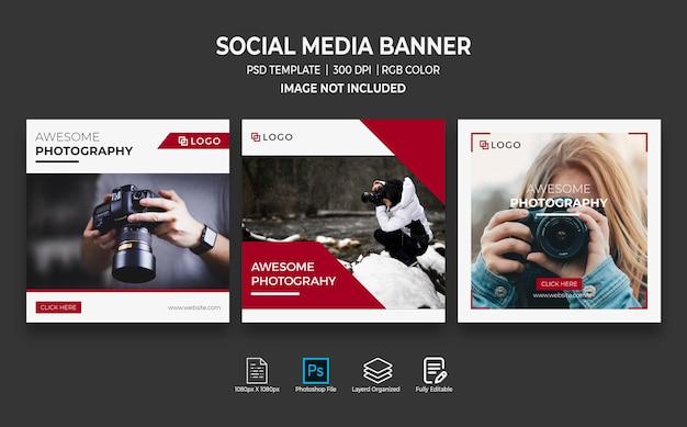 Plantilla de publicación de instagram para fotografía PSD Premium