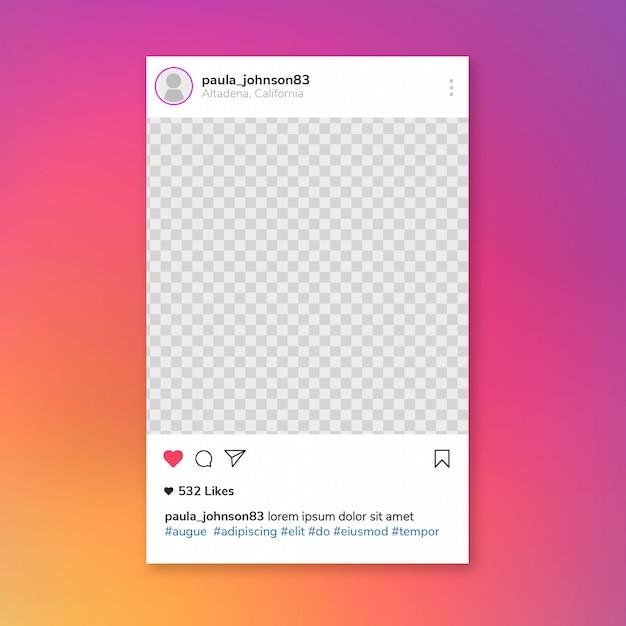 Plantilla de publicación de instagram PSD gratuito
