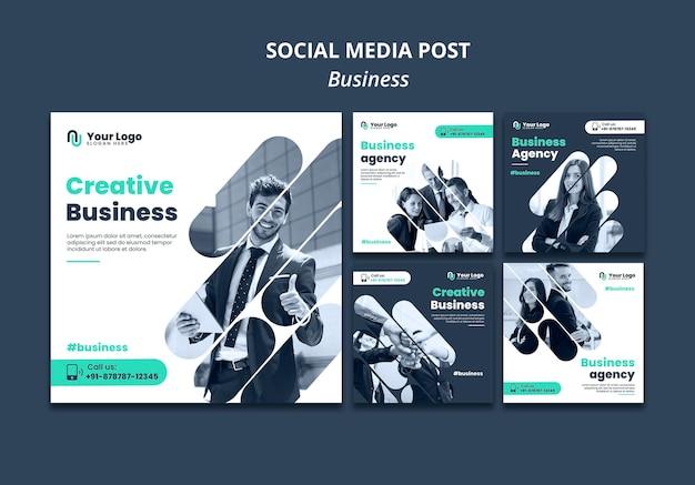 Plantilla de publicación de redes sociales de concepto de negocio PSD gratuito