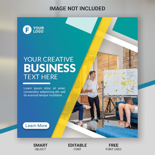 Plantilla de publicación de redes sociales corporativas PSD Premium