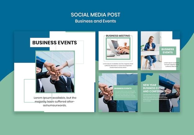 Plantilla de publicación en redes sociales para evento de negocios PSD gratuito