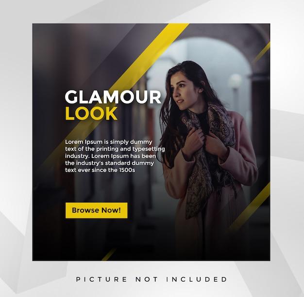 Plantilla de publicación de redes sociales glamour PSD Premium