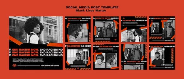 Plantilla de publicación de redes sociales importa vidas negras PSD Premium