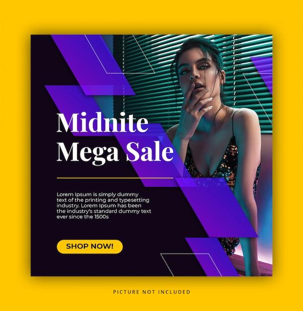 Plantilla de publicación de redes sociales mega venta PSD Premium
