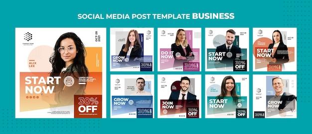 Plantilla de publicación de redes sociales de negocios. PSD gratuito