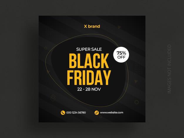 Plantilla de publicación de redes sociales de viernes negro PSD Premium