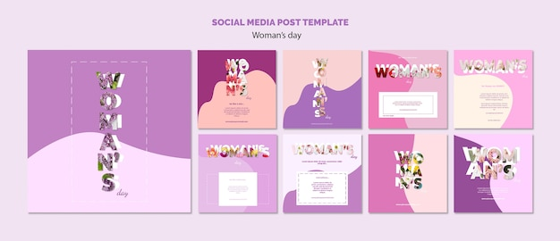 Plantilla de publicación en redes sociales PSD gratuito