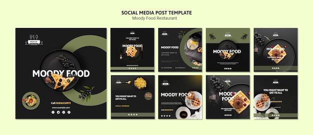 Plantilla de redes sociales de comida cambiante PSD gratuito