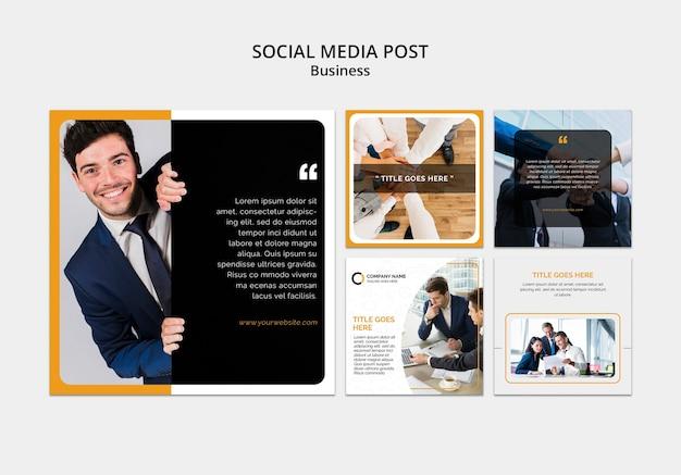 Plantilla de redes sociales empresariales PSD gratuito
