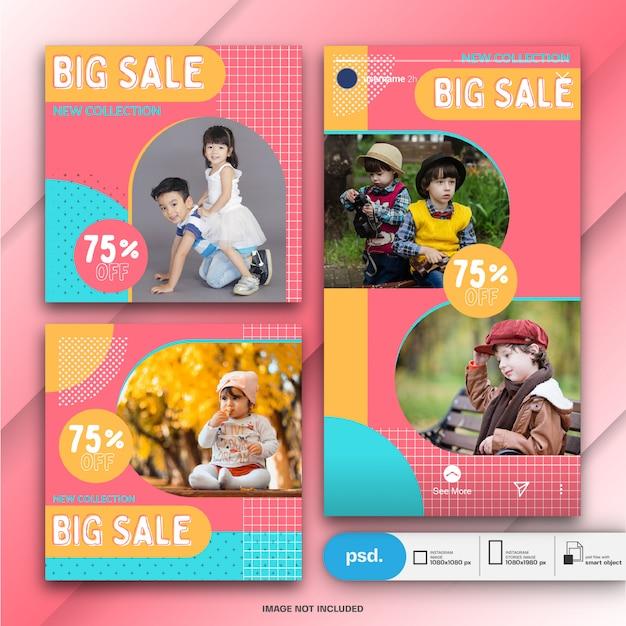 Plantilla de redes sociales de moda web banner PSD Premium