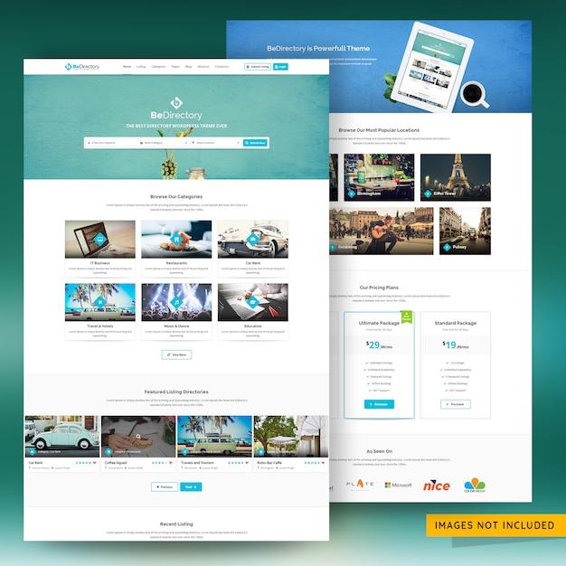 Plantilla de sitio web de marketing de listado clasificado y de directorio premium psd PSD Premium
