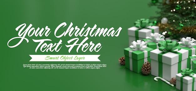 Plantilla de tarjeta de felicitación de feliz navidad PSD Premium