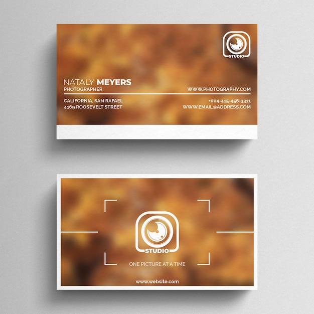 Plantilla de tarjeta de presentación fotográfica PSD gratuito