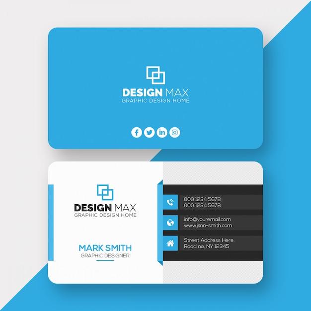 Plantilla de tarjeta profesional PSD Premium