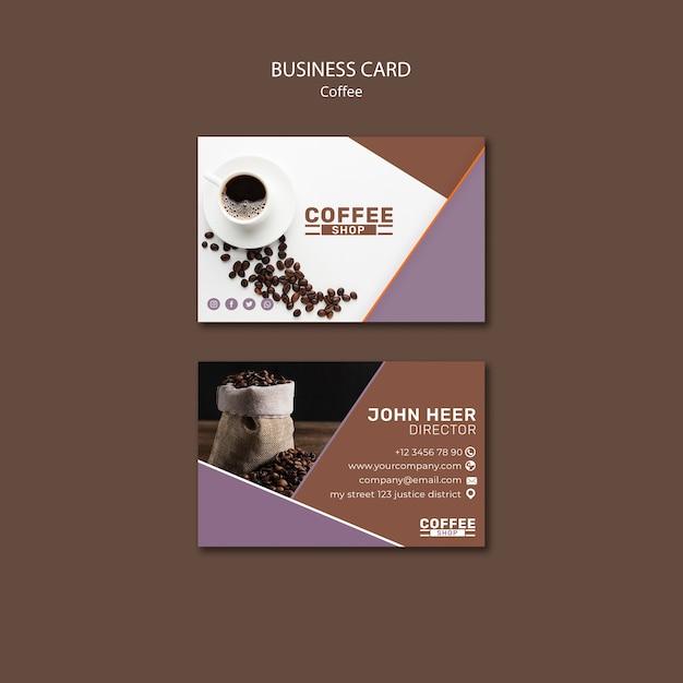 Plantilla de tarjeta de visita de cafetería PSD gratuito