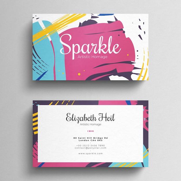 Plantilla de tarjeta de visita colorida PSD Premium