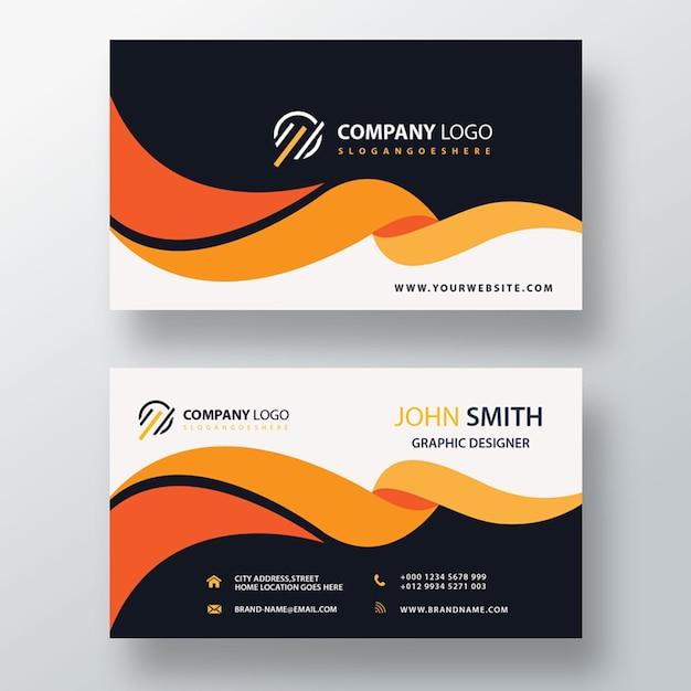Plantilla de tarjeta de visita creativa PSD gratuito