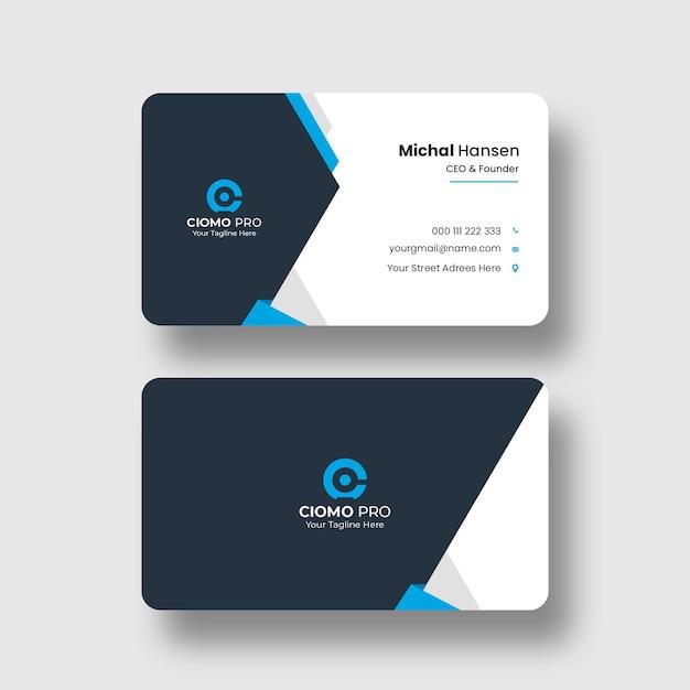 Plantilla de tarjeta de visita limpia PSD gratuito
