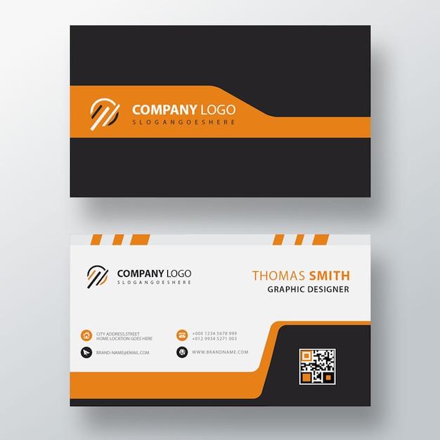 Plantilla de tarjeta de visita naranja simple PSD gratuito