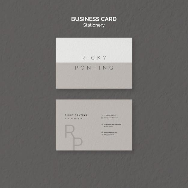 Plantilla de tarjeta de visita de papelería PSD gratuito