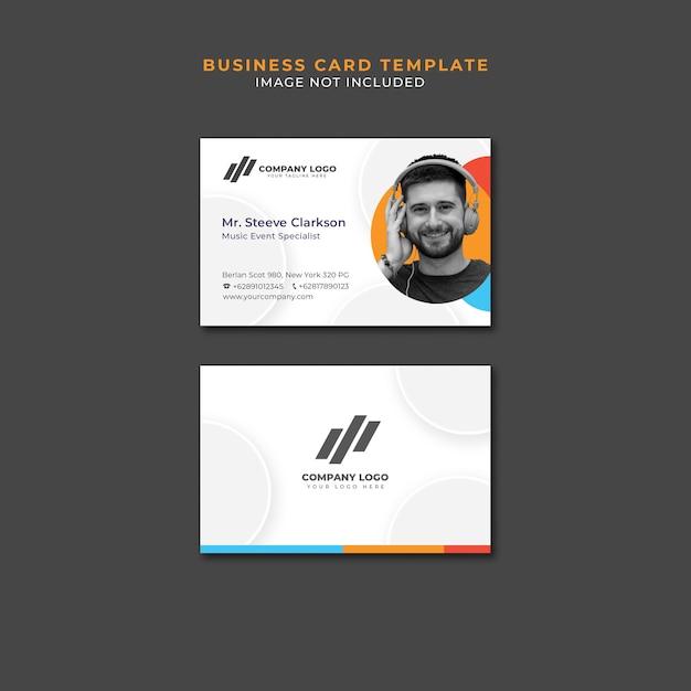 Plantilla de tarjeta de visita PSD gratuito
