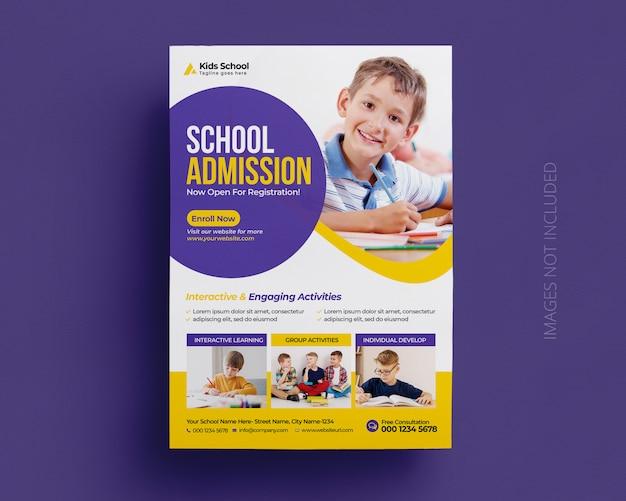 Plantilla de volante de admisión a la educación de regreso a la escuela PSD Premium