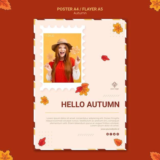 Plantilla de volante de anuncios de otoño PSD gratuito