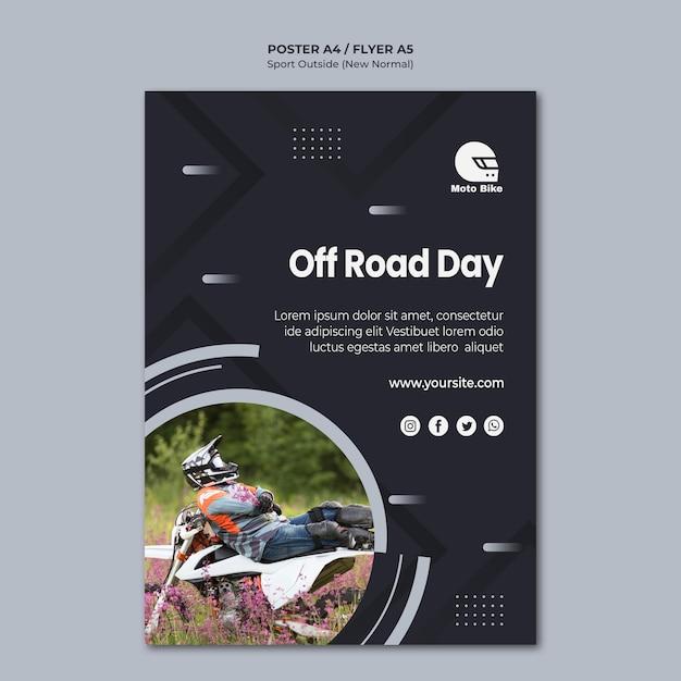 Plantilla de volante de concepto deportivo PSD gratuito