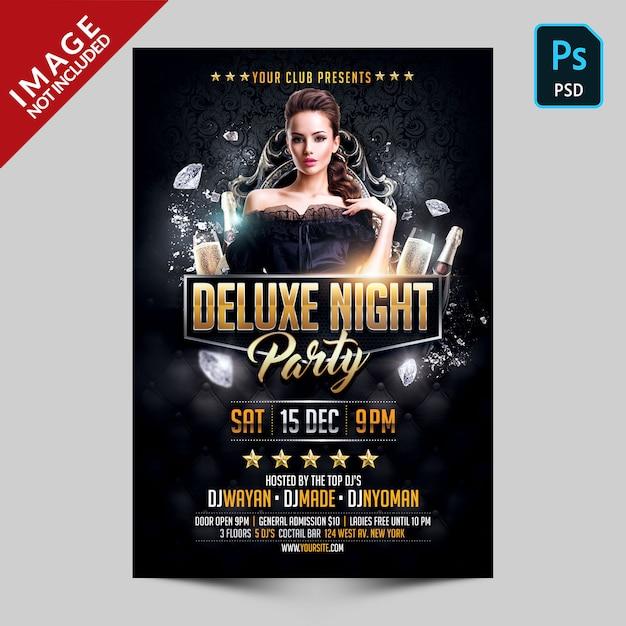 Plantilla de volante de photoshop deluxe night party PSD Premium
