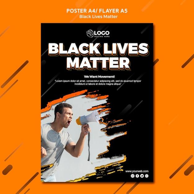 Plantilla de volante - vidas negras importa PSD gratuito