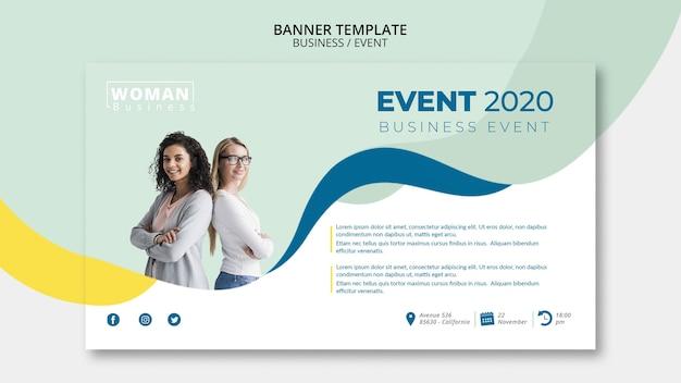 Plantilla web para evento empresarial PSD gratuito