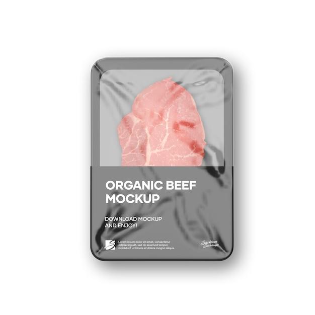 Plastic dienblad met marmerrundvleesmodel Premium Psd