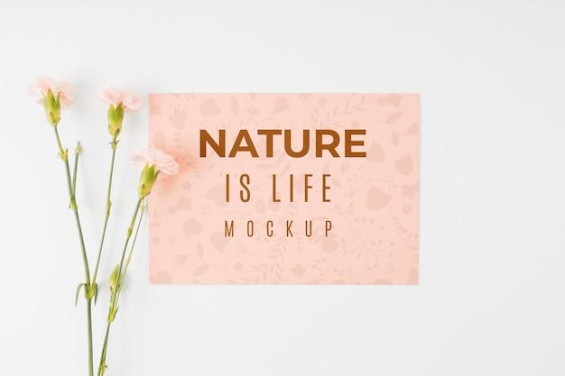 Plat lag model natuur is leven citaat Premium Psd